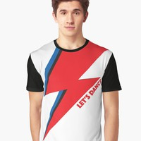'Let's Dance | Bowie' Graphic T-Shirt by hypnotzd