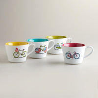 Bicycle Mugs, Set of 4 - World Market