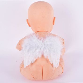 6-18 Months Baby White Feather Fairy Angel Wings Photo/Photography Props Costume 6412