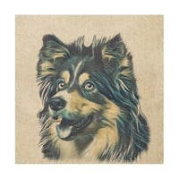 Shetland Sheepdog Painting Wood Wall Art