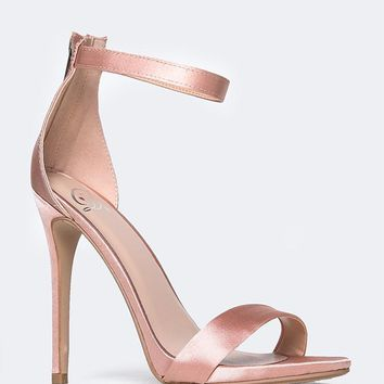Low Ankle Strap Heels