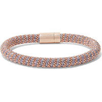 Carolina Bucci - Twister 18-karat rose gold plated and silk bracelet