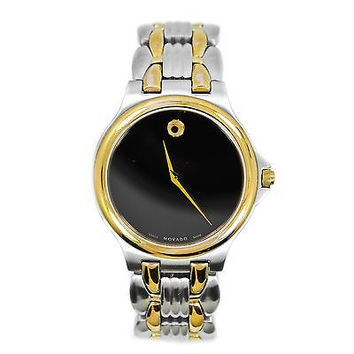 Movado Museum 84 G1 1882 Two-Tone Gold Plated Stainless Steel Men's Watch
