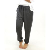 Nice n' Cozy Charcoal jogger Bottom Pants