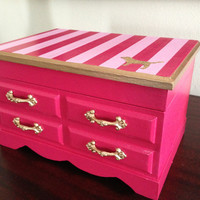 Vintage Musical Jewelry Box Upcycled to by ColorfulHomeDesigns