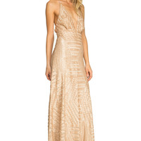 ATHENA PLUNGING SEQUIN MAXI | TRENDPAY