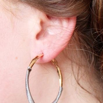 Sargon Thread Wrapped Hoop Earring
