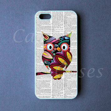 Iphone 5 Case  Colorful Owl Iphone 5 Cover by DzinerCase on Etsy