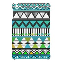 Turquoise Tribal 2 Pattern iPad Mini Cases from Zazzle.com