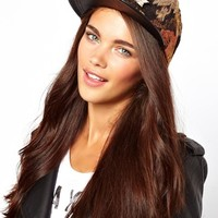 River Island Floral Tapestry Hardware Trucker Cap