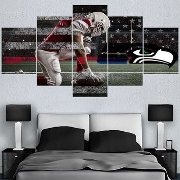 Rugby Team Canvas Paintings Seattle Seahawks Modern Home Decor Living Room Bedroom Wall Art Canvas Print Painting Calligraphy