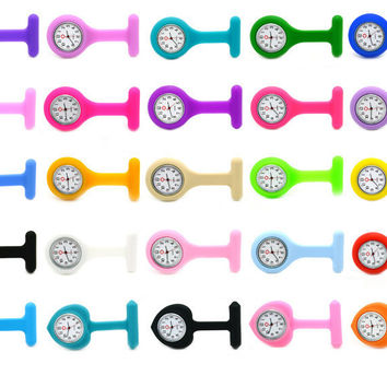 Silicone COLORS Nurse's Medical Fob Watch