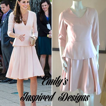 Duchess of Cambridge Kate Middleton Pink two Piece look dress