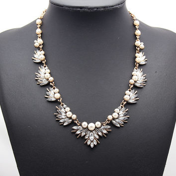 Faux Pearl Fancy Necklace