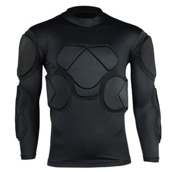 Long Sleeve Goalkeeper Clothes Elbow Pads Helmet Kneecaps   1442 top wear   M