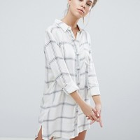 Wednesday's Girl Shirt Dress In Check at asos.com
