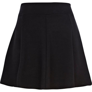 River Island Womens Black full skater skirt