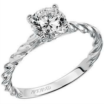 "Artcarved ""Joanna"" Solitaire Rope Twist Diamond Engagement Ring"