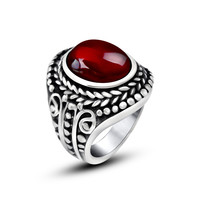 Jewelry Shiny Gift Stylish New Arrival Vintage Totem Titanium Gemstone Ring [6542656067]