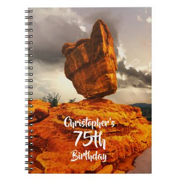 Hiking Balanced Rock Birthday Party Guest Book