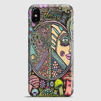 Hippie Scratch Board Mandala iPhone X Case
