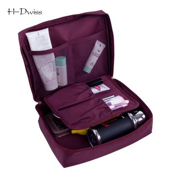 HDWISS Cosmetic Bag Women Travel Make up Toiletry Bag Necessaries Makeup Organizer Case Men Wash Bag CB014