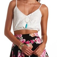 Crochet Surplice Crop Top by Charlotte Russe