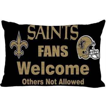 New Orleans Saints New Arrival Rectangle Pillowcase Wedding Decorative Pillow Case Customize Gift For Pillow Cover (Two-Sides)