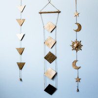 Sun Moon and Stars Wall Hanging Decor