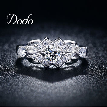 unique supernatural flower Wedding engagement Rings for women vintage anillos de plata Bijoux Accessories bague femme jewelry 25
