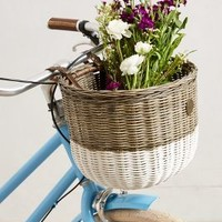 Dip-Dyed Bike Basket by Anthropologie Grey One Size Gifts