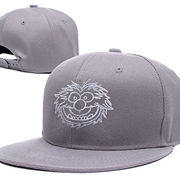 HAIHONG The Muppets Animal Face Logo Adjustable snapback Embroidery Hats Caps - Grey
