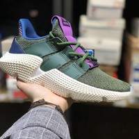 HCXX A063 Adidas Originals Dragon Ball Prophere Causal Running Shoes Green Purple