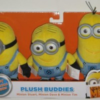Despicable Me 2 Plush Buddies Exclusive 3-pack with Minion Stuart, Minion Bob and Minion Kevin