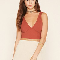 Plunging V-Neck Crop Top