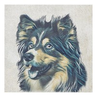 Shetland Sheepdog Painting Wall Panel
