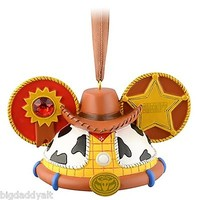 Disney Parks Toy Story Woody Mickey Ear Hat Ornament Christmas Limited Edition