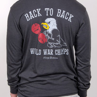 Back to Back World War Champs - Eagle Edition Long Sleeve Pocket Tee S | Rowdy Gentleman