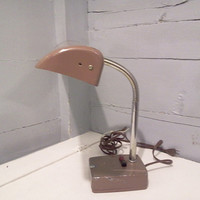 Vintage, Lamp, Desk Lamp, Drafting Table Lamp, Metal, Industrial, Mid Century, Tan, RhymeswithDaughter