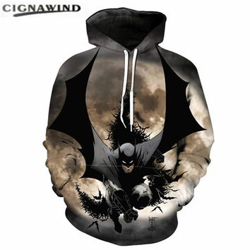 New cool movie Batman 3D printed Hoodie Sweatshirts Men/Women Pullovers mens hoodies fashion hip hop streetwear funny tracksuits