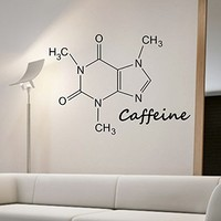 Caffeine Molecule Wall Decal Vinyl Art Home Decor Science Education Energy Coffee