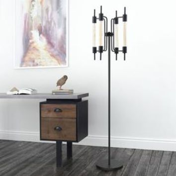 Shop Zuo Modern Gisborne 66.1-in Rust Foot Switch Stick Floor Lamp with Metal Shade at Lowes.com