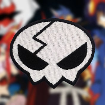 Tengen Toppa Gurren Lagann Yoko Head Skull Embroidered Sew-on Patch/Badge