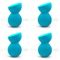 PRO Beauty Sponge Blenders: 4pc Blue Sculptor Makeup Sponge Dupe; Blend Foundation, Highlight and Contour Like a Pro! Makeup Applicators for Sheer Flawless Coverage; Compares to the Original.