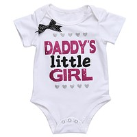 2017 Summer Baby Cartoon Clothes Newborn Baby Boy Girls Rompers Short Sleeve Cotton Print Baby Clothing Romper Jumpsuit White
