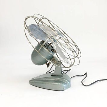 Antique Fan, Rexall Drug Co. Desk Fan, Rex-Ray Desk Fan, Art Deco Desk Fan, Adjustable Fan, Industrial Fan, Mad Men Style Office Decor