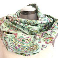 Infinity Scarf // Paisley // Teal and Purple
