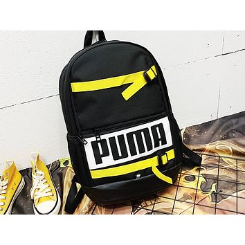 PUMA fashion hot seller casual lady patchwork printed shopping backpack Black