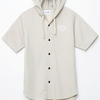 Diamond Supply Co - Garnet Hooded Baseball Jersey - Mens Tee