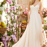 Voyage by Mori Lee 6805 Soft Net A-Line Wedding Dress